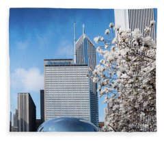 Chicago Bean Millenium Park Fleece Blanket