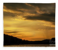 First Light Big Ditch Lake Fleece Blanket