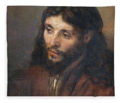 Head Of Christ Fleece Blanket