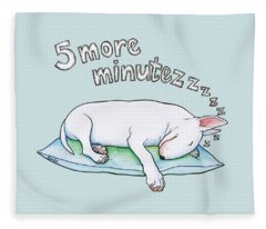 5 More Minutes Fleece Blanket