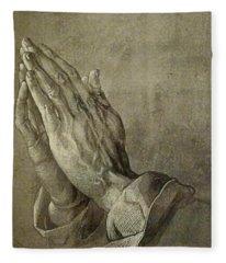 Praying Hands Fleece Blanket