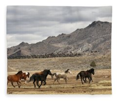 Virginia Range Mustangs Fleece Blanket