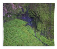Weeping Wall Kauai Fleece Blanket
