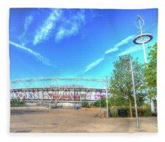 West Ham Fc Stadium London Fleece Blanket