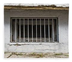Window Bars Fleece Blanket