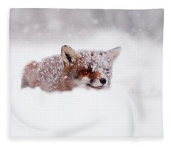 50 Shades Of White And A Touch Of Red Fleece Blanket