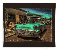 57 Buick - Just Coolin' It Fleece Blanket