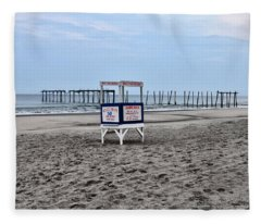 59th Street Pier In Ocean City Fleece Blanket