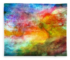 5a Abstract Expressionism Digital Painting Fleece Blanket