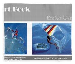 Art Book Fleece Blanket