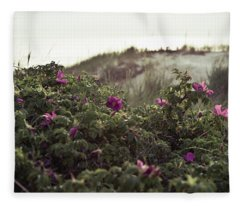 Rose Bush And Dunes Fleece Blanket