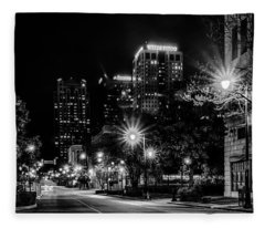 Birmingham Alabama Evening Skyline Fleece Blanket