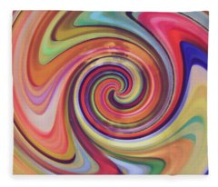 Spiraling Glass Fleece Blanket