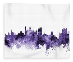 Cambridge England Skyline Fleece Blanket
