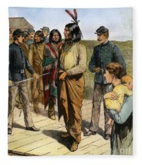 Geronimo 1829-1909.  To License For Professional Use Visit Granger.com Fleece Blanket