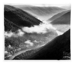 Grandview New River Gorge Fleece Blanket