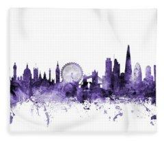 London England Skyline Fleece Blanket