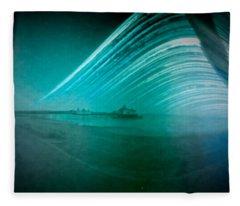 6 Month Exposure Of Eastbourne Pier Fleece Blanket