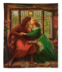 Paolo And Francesca Da Rimini Fleece Blanket