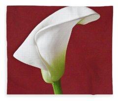 White Calla Fleece Blanket