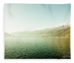 Fleece Blanket featuring the photograph Alpine Lake by Mats Silvan