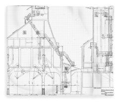 600 Ton Coaling Tower Plans Fleece Blanket