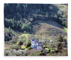 6b6312 Falcon Crest Winery Grounds Fleece Blanket