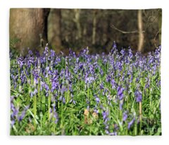 Bluebells At Banstead Wood Surrey Uk Fleece Blanket