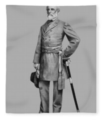 General Robert E Lee Fleece Blanket