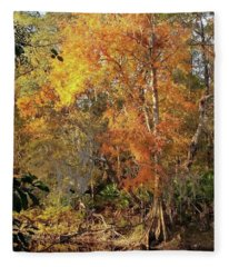 Beauty Of Autumn Fleece Blanket