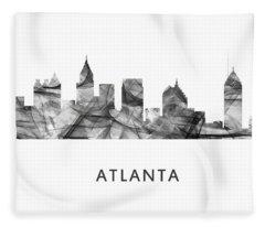 Atlanta Georgia Skyline Fleece Blanket