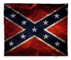 Confederate Flag 9 Fleece Blanket