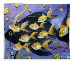 8 Gold Fish Fleece Blanket