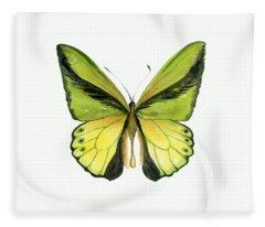 8 Goliath Birdwing Butterfly Fleece Blanket