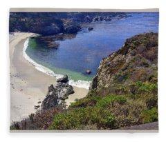 Point Lobos Beach Fleece Blanket
