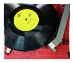 8 Rpm Record Player Fleece Blanket