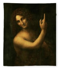 Saint John The Baptist Fleece Blanket