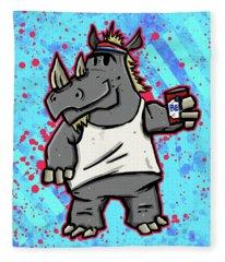 80's Party Rhino Fleece Blanket