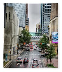 Charlotte North Carolina Views Around  Downtown Fleece Blanket