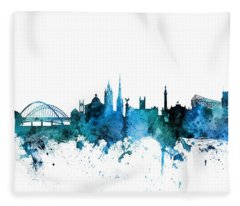 Newcastle England Skyline Fleece Blanket