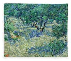 Olive Orchard Fleece Blanket