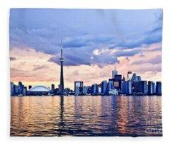 Toronto Skyline Fleece Blanket