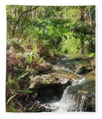 Hidden Brook Within Nature Fleece Blanket