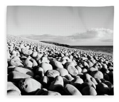 A Beach Of Stones Fleece Blanket