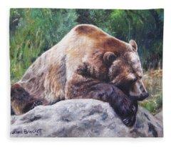 A Bear Of A Prayer Fleece Blanket