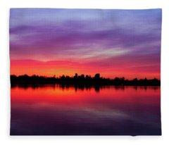 Sunrise At Sloan's Lake Fleece Blanket