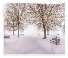 A Beautiful Winter's Morning  Fleece Blanket
