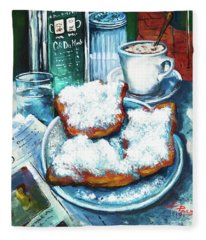 A Beignet Morning Fleece Blanket
