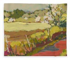 A Bend In The Road Fleece Blanket