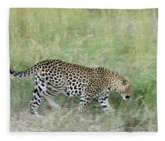 A Blur Of Leopard Fleece Blanket